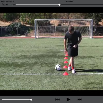 Cone Drill Pull Backs Behind Leg