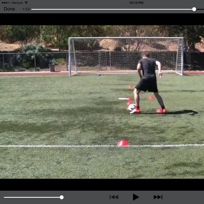 Cone Drill Pulling V Accelerated