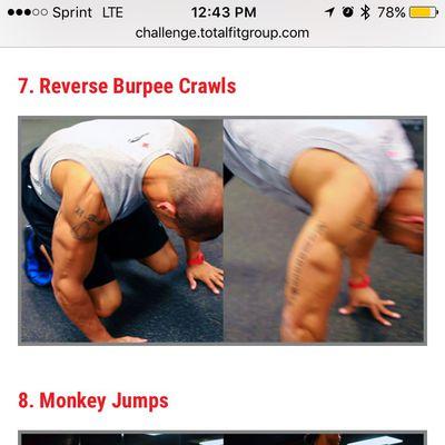 Reverse Burpee Crawls