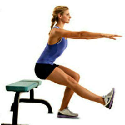 Left Leg Bench Squat
