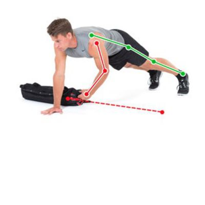 Push Up Sandbag(10Reps)
