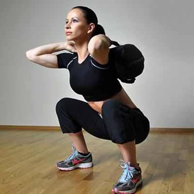 Sandbag Back Squat(10 Reps)
