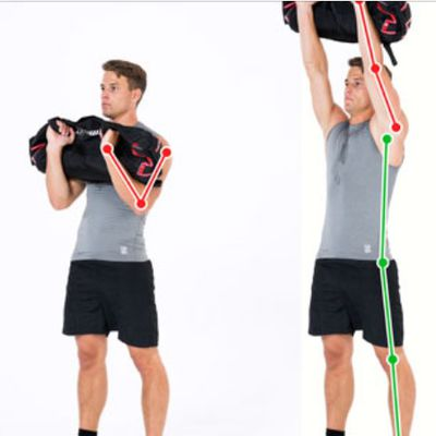 Sandbag Curl And Press