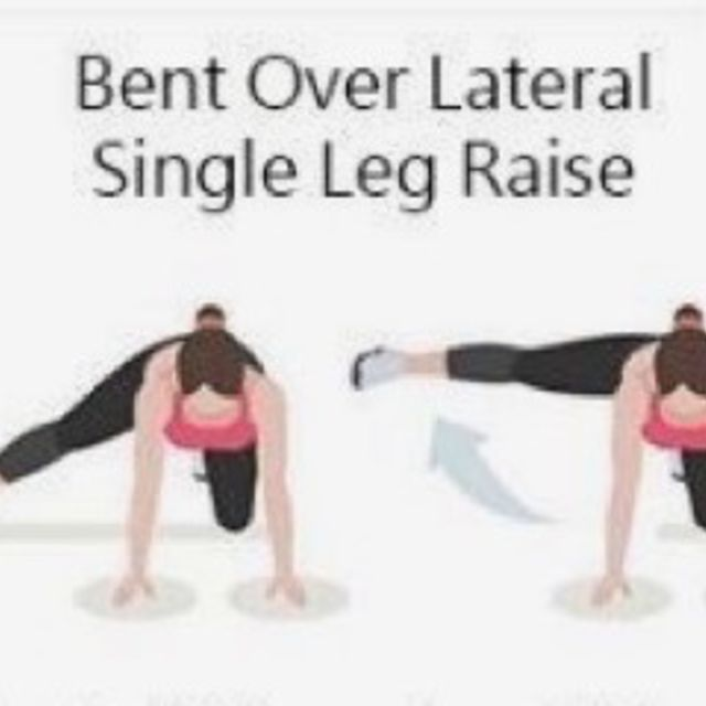 How to do: Bent Over Lateral Single Leg Raise - Step 1