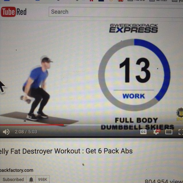 How to do: Body Dumbbell Skiers - Step 1
