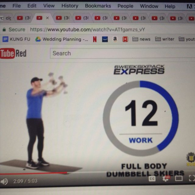 How to do: Body Dumbbell Skiers - Step 2