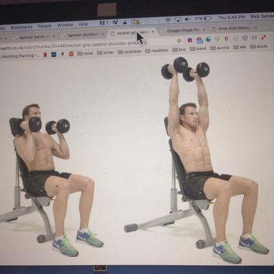 Hammer Dumbbell Shoulder Press Up