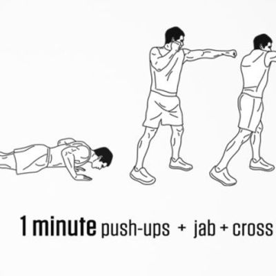 Push-up +jab+cross