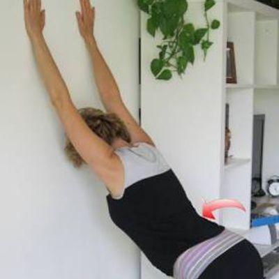 Shoulder Stretch Hanging, Breath Out