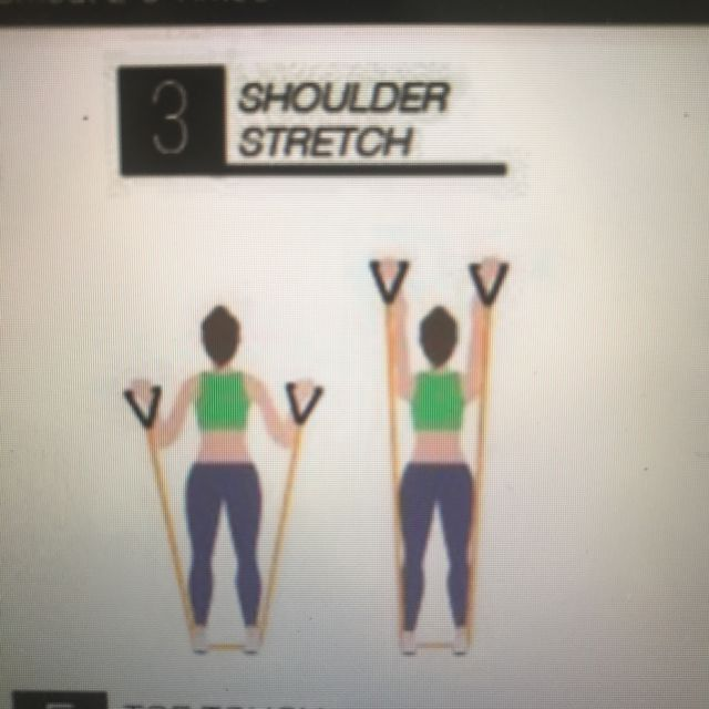 How to do: Band Shoulder Push - Step 1