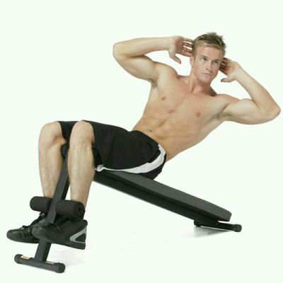 Incline Bench Sit-Ups With Torso Twist