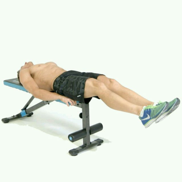 How to do: Bench Lying Leg Raise - Step 1