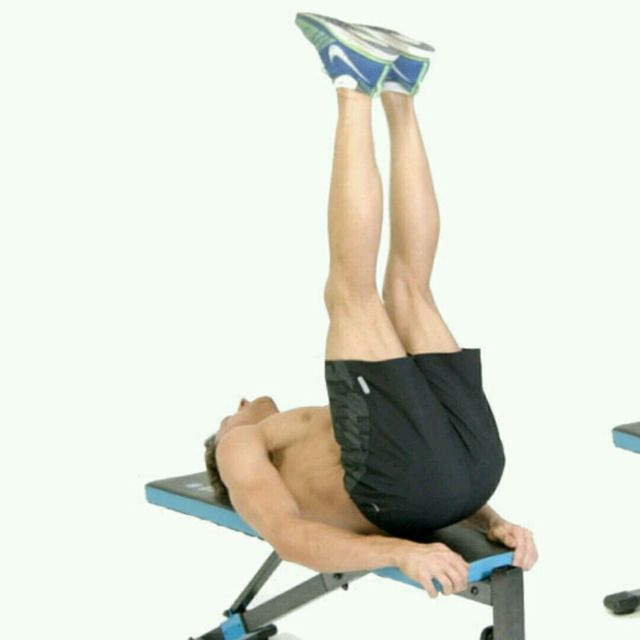 How to do: Bench Lying Leg Raise - Step 2