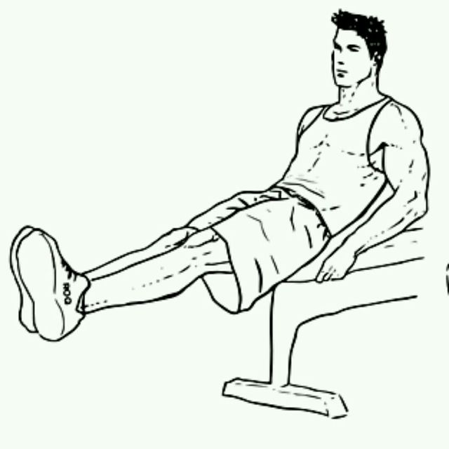 How to do: Bench V-Sit Crunches - Step 1