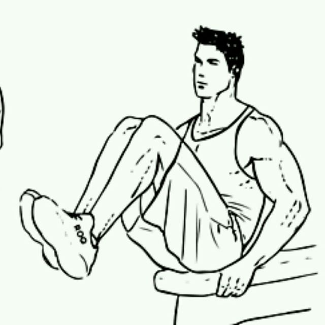 How to do: Bench V-Sit Crunches - Step 2