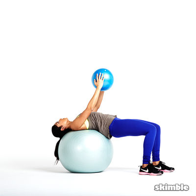 Pullovers on Ball With Kettlebells