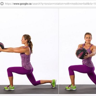 Back Lunges And Rotation Medecine Ball