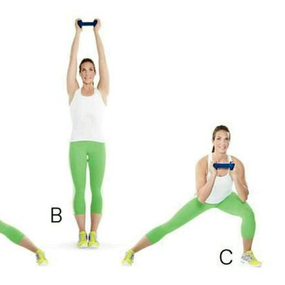 Alternating Dumbbell Side Lunge