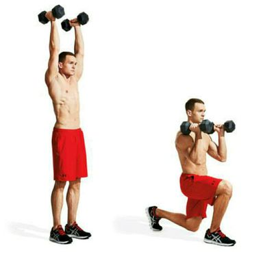 Alternating Lunge Overhead Press