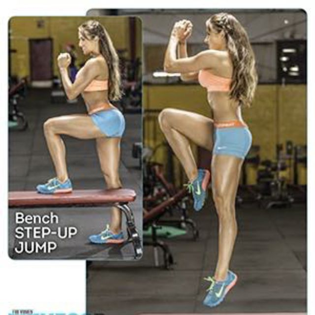 How to do: Bench Step Up Jump - Step 1