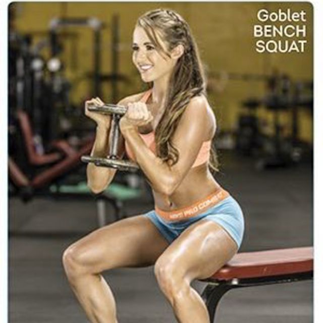 Miraculous Goblet Bench Squat Exercise How To Workout Trainer By Lamtechconsult Wood Chair Design Ideas Lamtechconsultcom