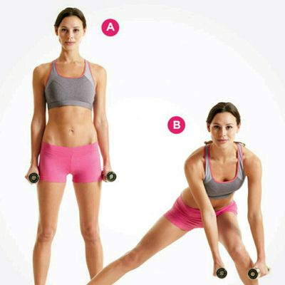 Alternating Dumbbell Side Squat