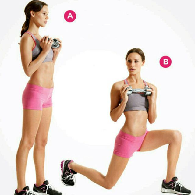 How to do: Alternating Lunge Rotation - Step 1