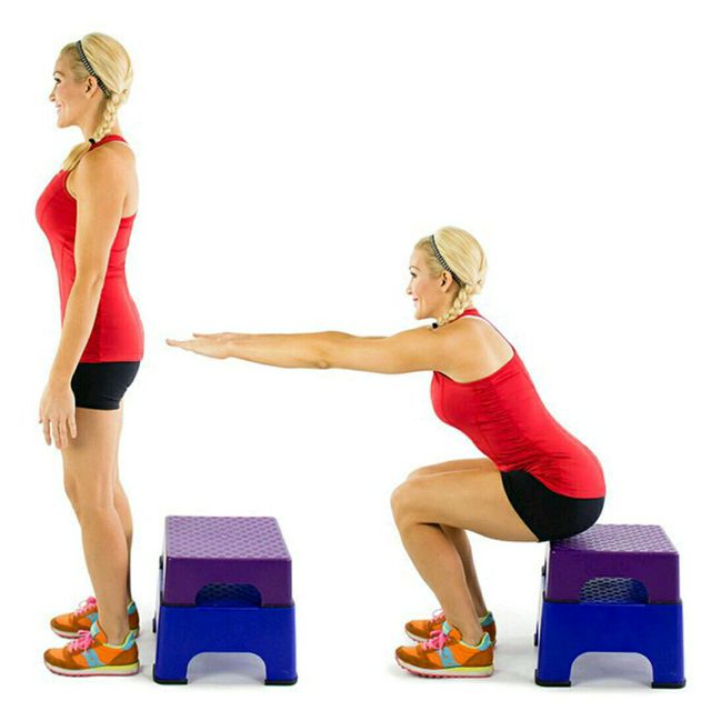 How to do: Bench Squats - Step 1