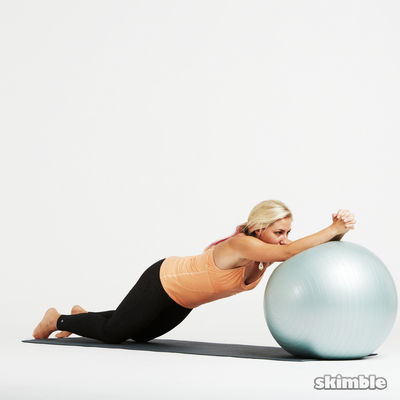 Ball Ab Rolls Or Ab Wheel Roll Outs (10 Reps)