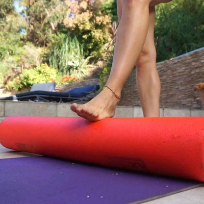 Foot Rolls On Foam Roller