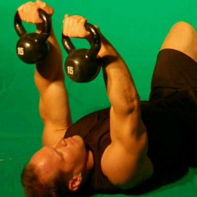 Lying Kettlebell Tricep Extensions