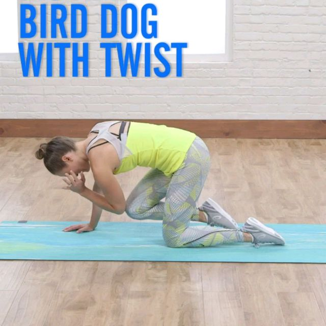 How to do: Bird Dog With Twist - Step 2