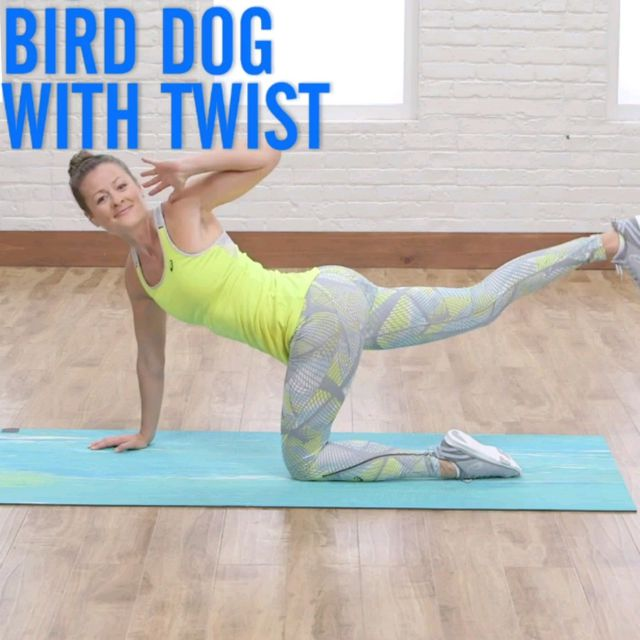 How to do: Bird Dog With Twist - Step 1
