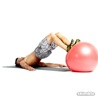 Stability Ball Leg Curls