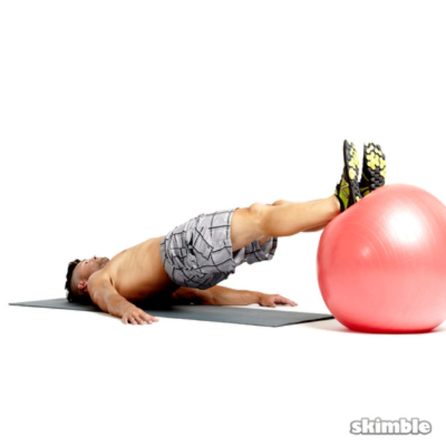 How to do: Stability Ball Leg Curls - Step 4
