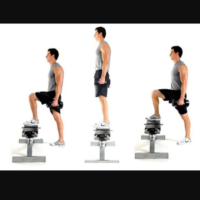 How to do: Bench Step Up Right Leg - Step 1