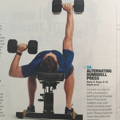 Alternating Dumbbell Press.