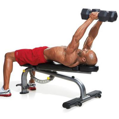 Lying Dumbbell Tricep Extensions