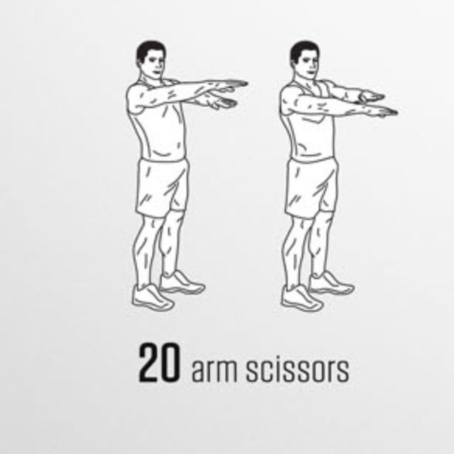 How to do: Arm Scissors - Step 1