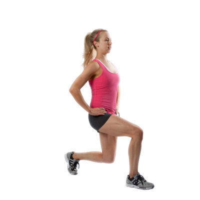 Right Assisted Lunges