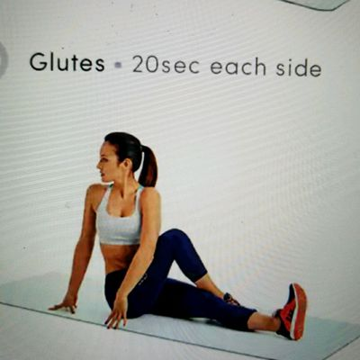 Seated Cross Leg Glutes