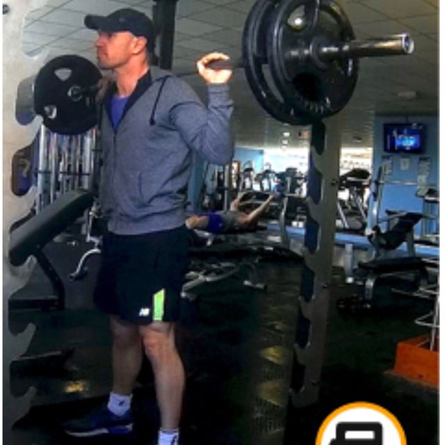 How to do: Back Weighted Squats - Step 1