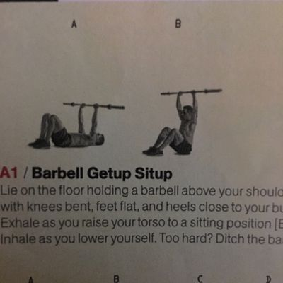Barbell Getup Sit Up