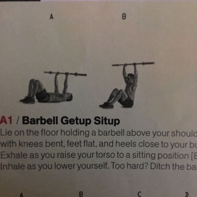 How to do: Barbell Getup Sit Up - Step 1