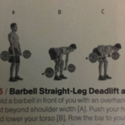 Barbell Straight Leg Deadlift And Row