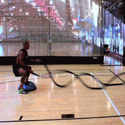 Battle Rope Alternating Wave With Bosu Ball