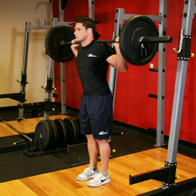 How to do: Barbell Loaded Step Up With Leg Raise - Step 1