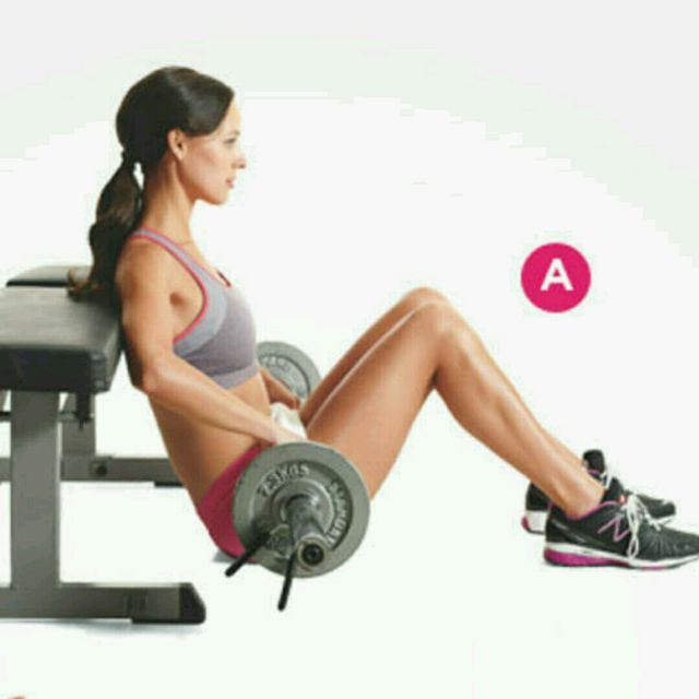 How to do: Bench Bridge Hip Thrusts - Step 2