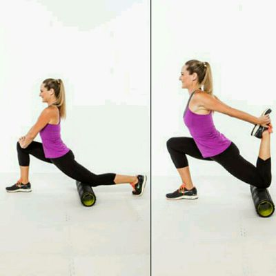 Kneeling Hip and Quad Stretch