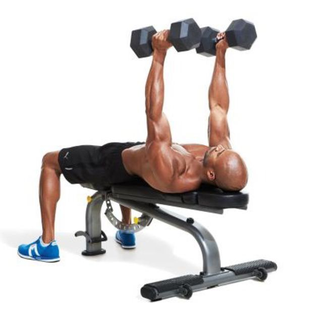 How to do: 1 1/4 NEUTRAL-GRIP DUMBBELL BENCH PRESS - Step 1